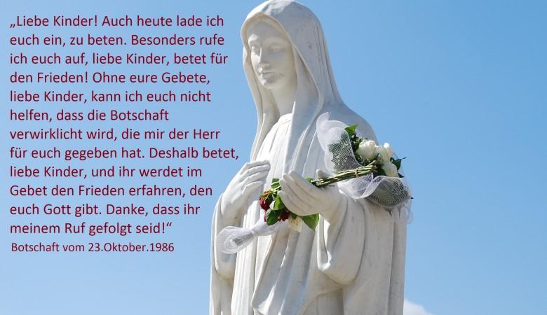 Beten wir für den Frieden in der Welt!