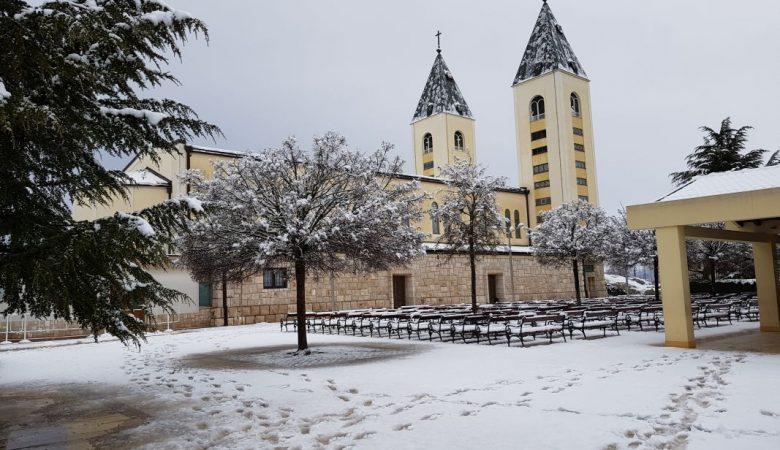 Schnee in Medjugorje 2019