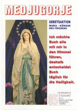 Gebetsaktion Medjugorje 85