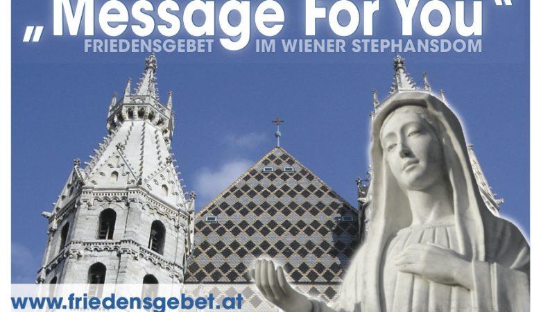 Friedensgebet am 27. September im Wiener Stephansdom