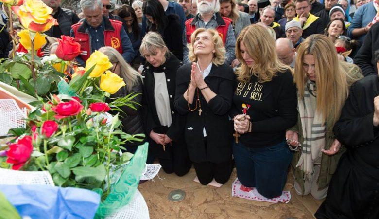 Jährliche Erscheinung von Mirjana am 18. März 2017