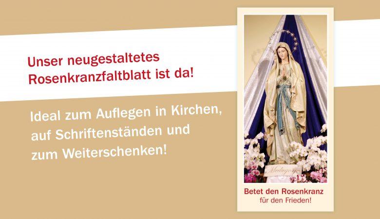 Neugestaltetes Rosenkranzfaltblatt!