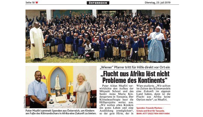 Brot und Schule für Tansania